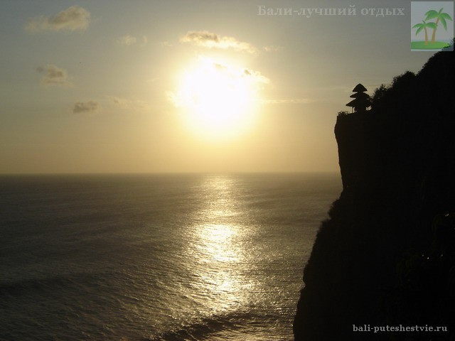 Бали храм Улувату, закат