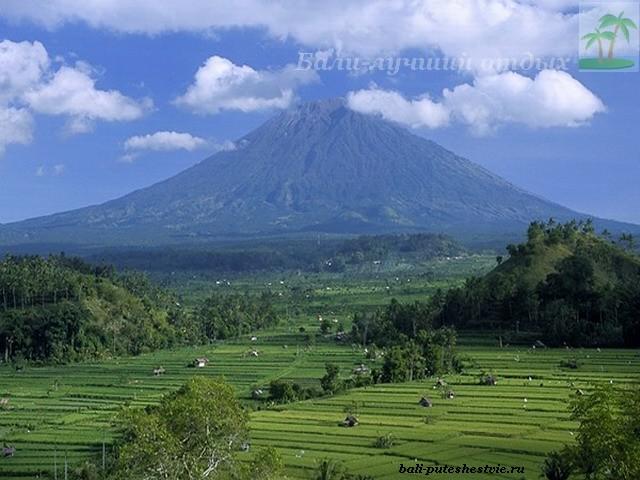 Вулкан Агунг самая высокая точка на Бали