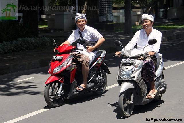 Основной транспорт на Бали