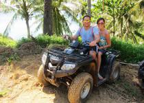 на квадроциклах в тандеме на Бали