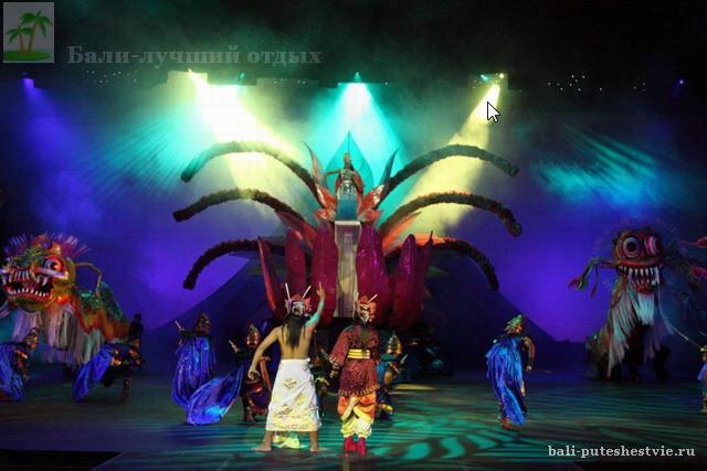 Представление Балийского театра Шоу Агунг
