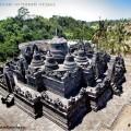 Храм Боробудур в парке на Бали
