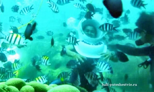 Подводная прогулка в шлеме