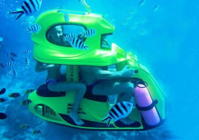 Подводный скутер на Бали