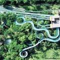 Вид сверху аквапарк Кута Бали